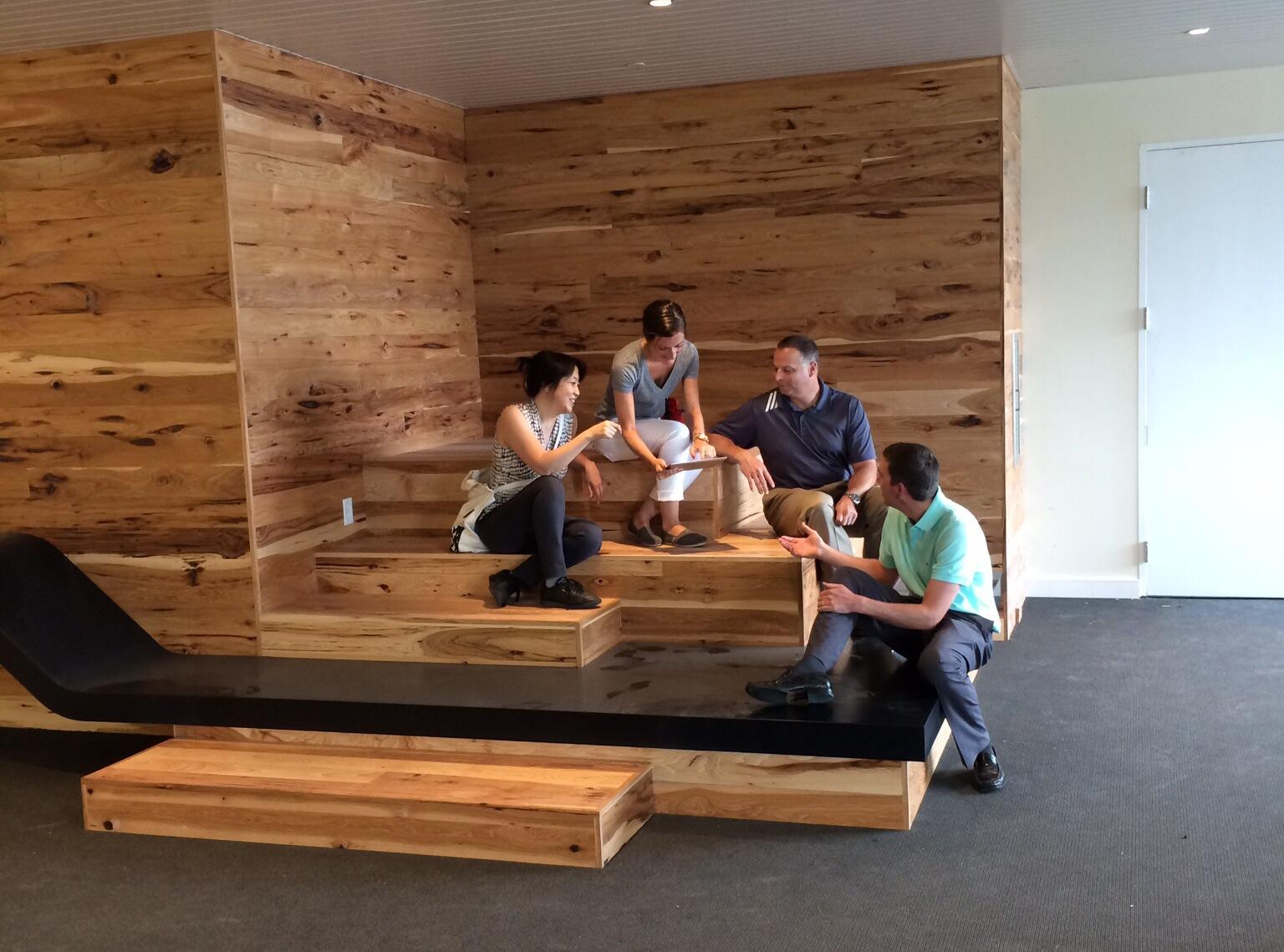 A great corner for collaboration in our design for Keurig. Image © Neil Alexander for Visnick & Caulfield