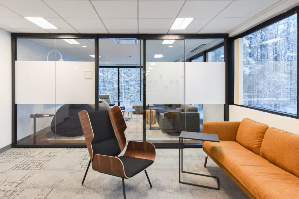 quiet rooms and open casual meeting options