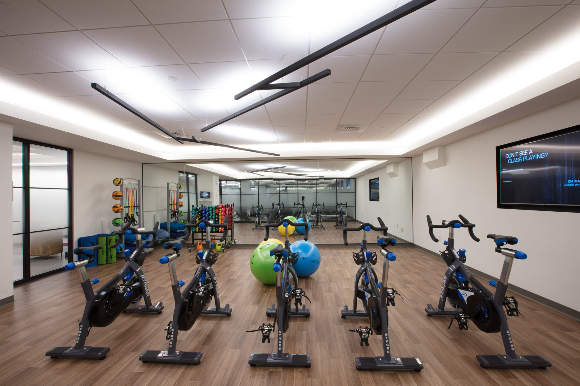 Fitness area at One Beacon