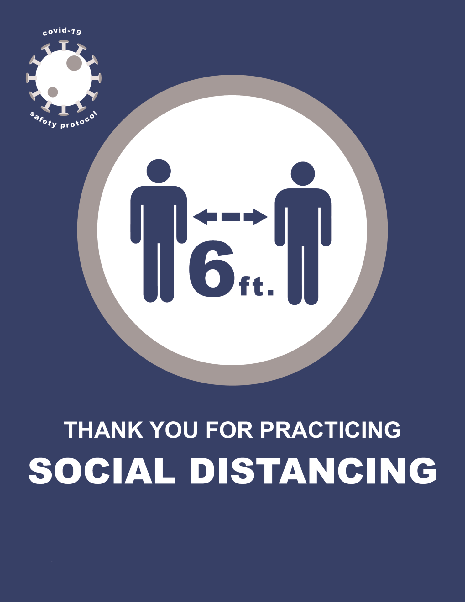 COVID-19 Signage For Social Distancing
